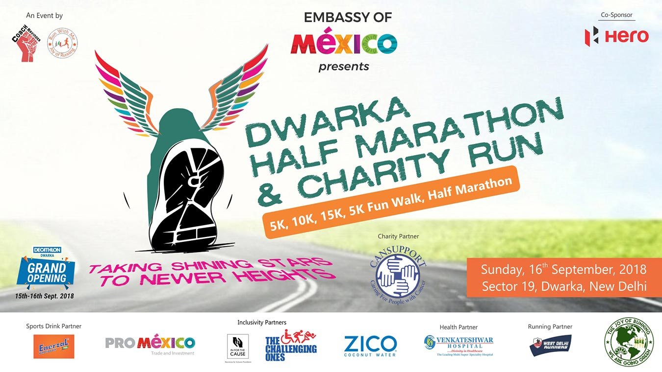 Dwarka Half Marathon & Charity Run, Sunday, 16 September, 2018, Dwarka New Delhi